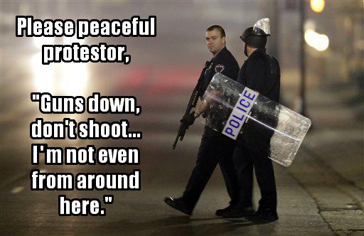 Ferguson Policemen Shot